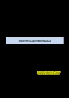КОНКУРСНА ДОКУМЕНТАЦИЈА JН 03-2019