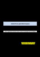 KONKURSNA DOKUMENTACIJA JN 1-2019