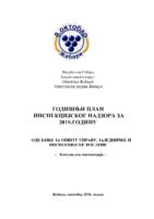 Plan inspekcijskog nadzora za 2019.godinu KOMUNALNA INSPEKCIJA