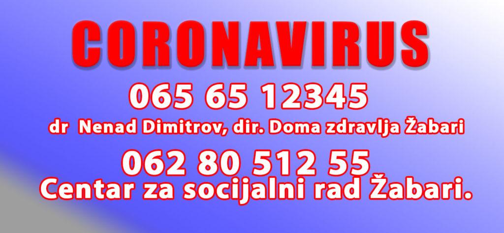 kontakt telefoni za coronavirus za opstinu Zabsari